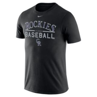 Men's Nike Colorado Rockies Practice Ringspun Tee