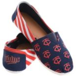 Women's Forever Collectibles Minnesota Twins Striped Canvas Shoes