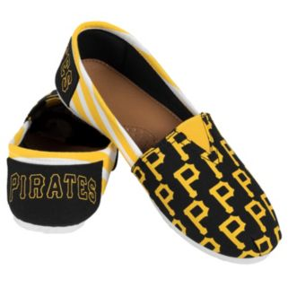 Women's Forever Collectibles Pittsburgh Pirates Striped Canvas Shoes