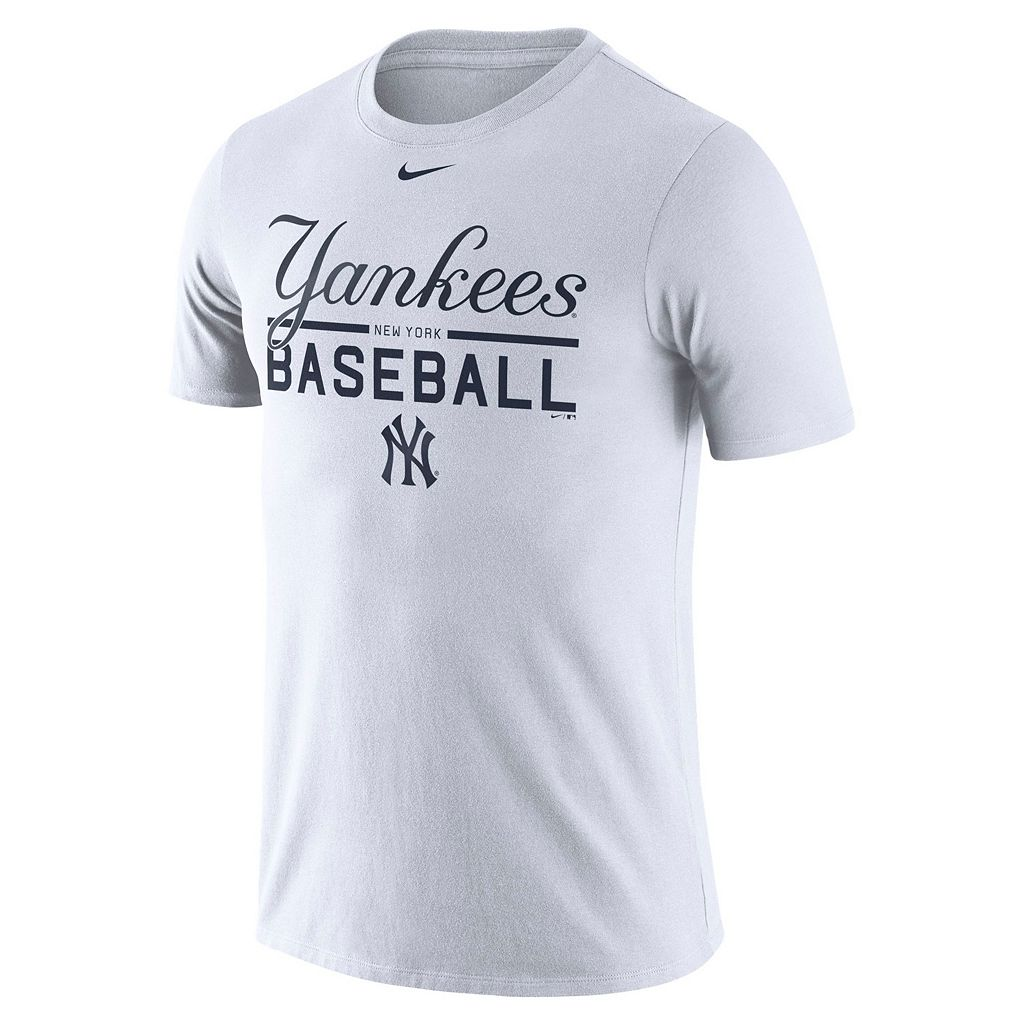 Men's Nike New York Yankees Practice Ringspun Tee