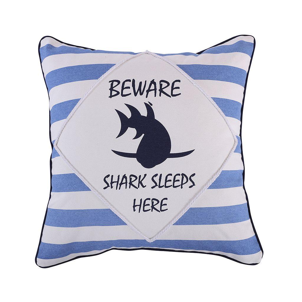 Sammy Shark Beware Throw Pillow