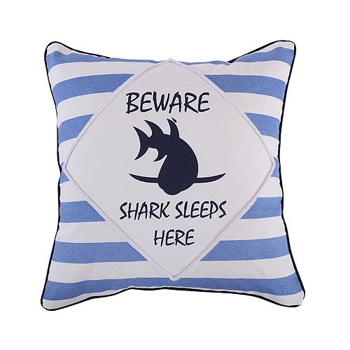 Sammy Shark Beware Throw Pillow