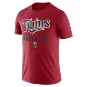 Men's Nike Minnesota Twins Practice Ringspun Tee