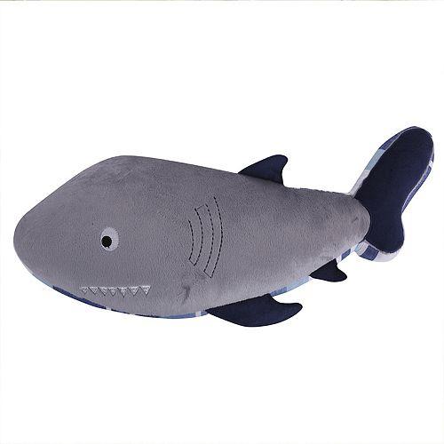 Sammy Shark Shaped Throw Pillow