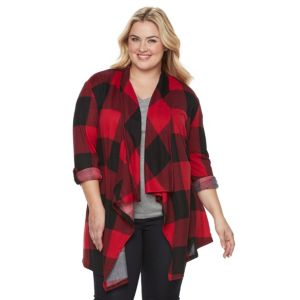 Plus Size French Laundry Open-Front Drape Cardigan