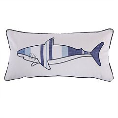 Sammy Shark Printed Throw Pillow