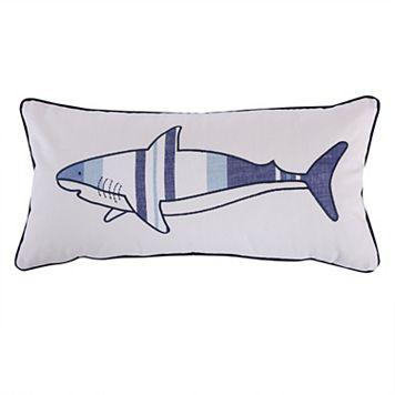 Sammy Shark Printed Throw Pillow