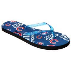 Women's Chicago Cubs Multi-Logo Glitter Flip-Flops