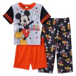 "Disney's Mickey Mouse Toddler Boy 3-pc. ""Cool Moves"" Pajama Set"