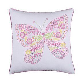 Kama Butterfly Throw Pillow
