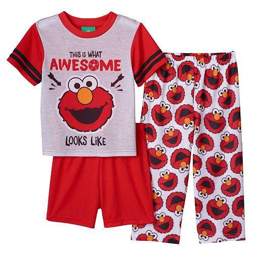 d939142a89 Sesame Street Elmo Toddler Boy 3-pc. Pajama Set
