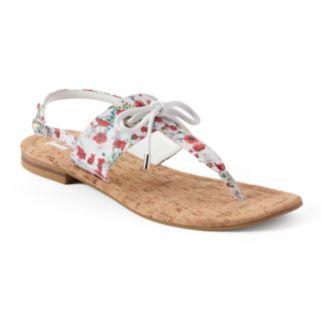 Dana Buchman Floral Tie Flip-Flops