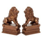 Bronze Finish Lion Bookends 2-piece Set