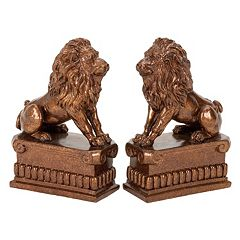 Bronze Finish Lion Bookends 2-piece Set