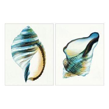 Coastal Fragments II Canvas Wall Art 2-piece Set