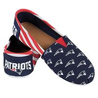 Women's Forever Collectibles New England Patriots Striped Canvas Shoes