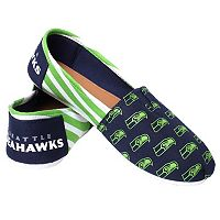 Women's Forever Collectibles Seattle Seahawks Striped Canvas Shoes