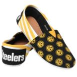 Women's Forever Collectibles Pittsburgh Steelers Striped Canvas Shoes