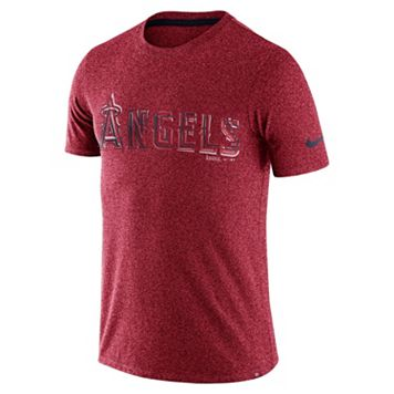 Men's Nike Los Angeles Angels of Anaheim Marled Wordmark Tee