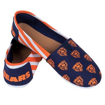 Women's Forever Collectibles Chicago Bears Striped Canvas Shoes