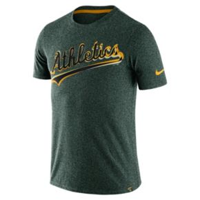 Men's Nike Oakland Athletics Marled Wordmark Tee