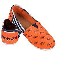 Women's Forever Collectibles Denver Broncos Striped Canvas Shoes