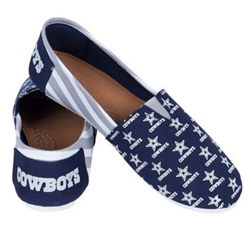 Women's Forever Collectibles Dallas Cowboys Striped Canvas Shoes