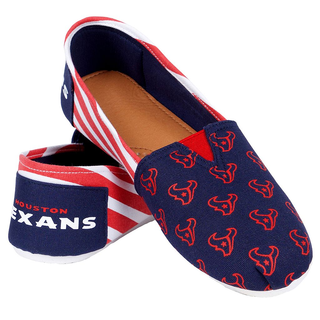 Women's Forever Collectibles Houston Texans Striped Canvas Shoes