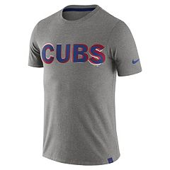 Men's Nike Chicago Cubs Marled Wordmark Tee