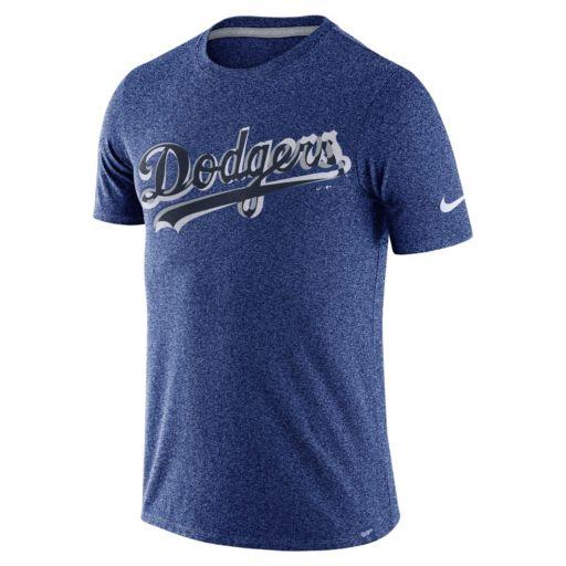 Men's Nike Los Angeles Dodgers Marled Wordmark Tee