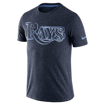 Men's Nike Tampa Bay Rays Marled Wordmark Tee