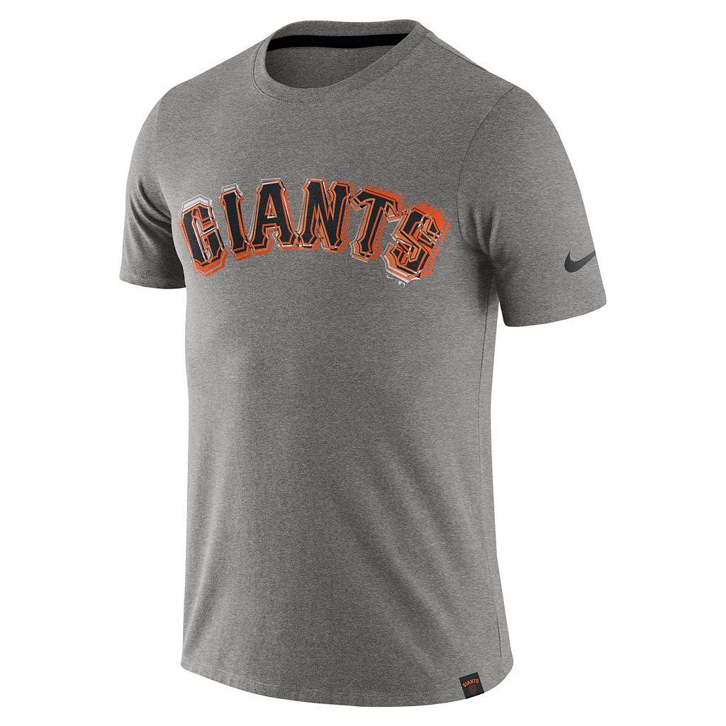 Men's Nike San Francisco Giants Marled Wordmark Tee