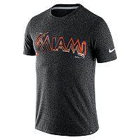 Men's Nike Miami Marlins Marled Wordmark Tee