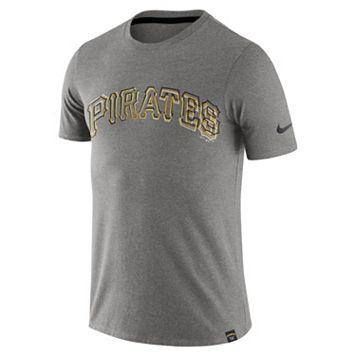 Men's Nike Pittsburgh Pirates Marled Wordmark Tee