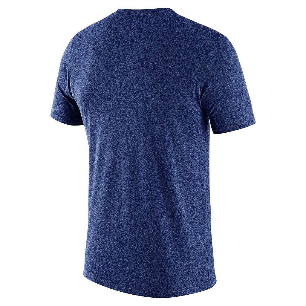 Men's Nike Texas Rangers Marled Wordmark Tee