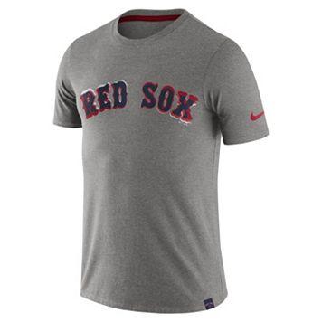 Men's Nike Boston Red Sox Marled Wordmark Tee