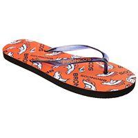 Women's Denver Broncos Multi-Logo Glitter Flip-Flops