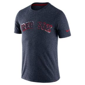 Men's Nike Boston Red Sox Marled Wordmark Tee