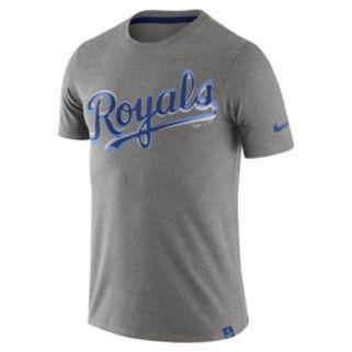 Men's Nike Kansas City Royals Marled Wordmark Tee