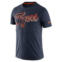 Men's Nike Detroit Tigers Marled Wordmark Tee