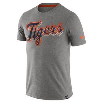 Men's Nike Detroit Tigers Marled Wordmark Tee