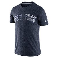 Men's Nike New York Yankees Marled Wordmark Tee