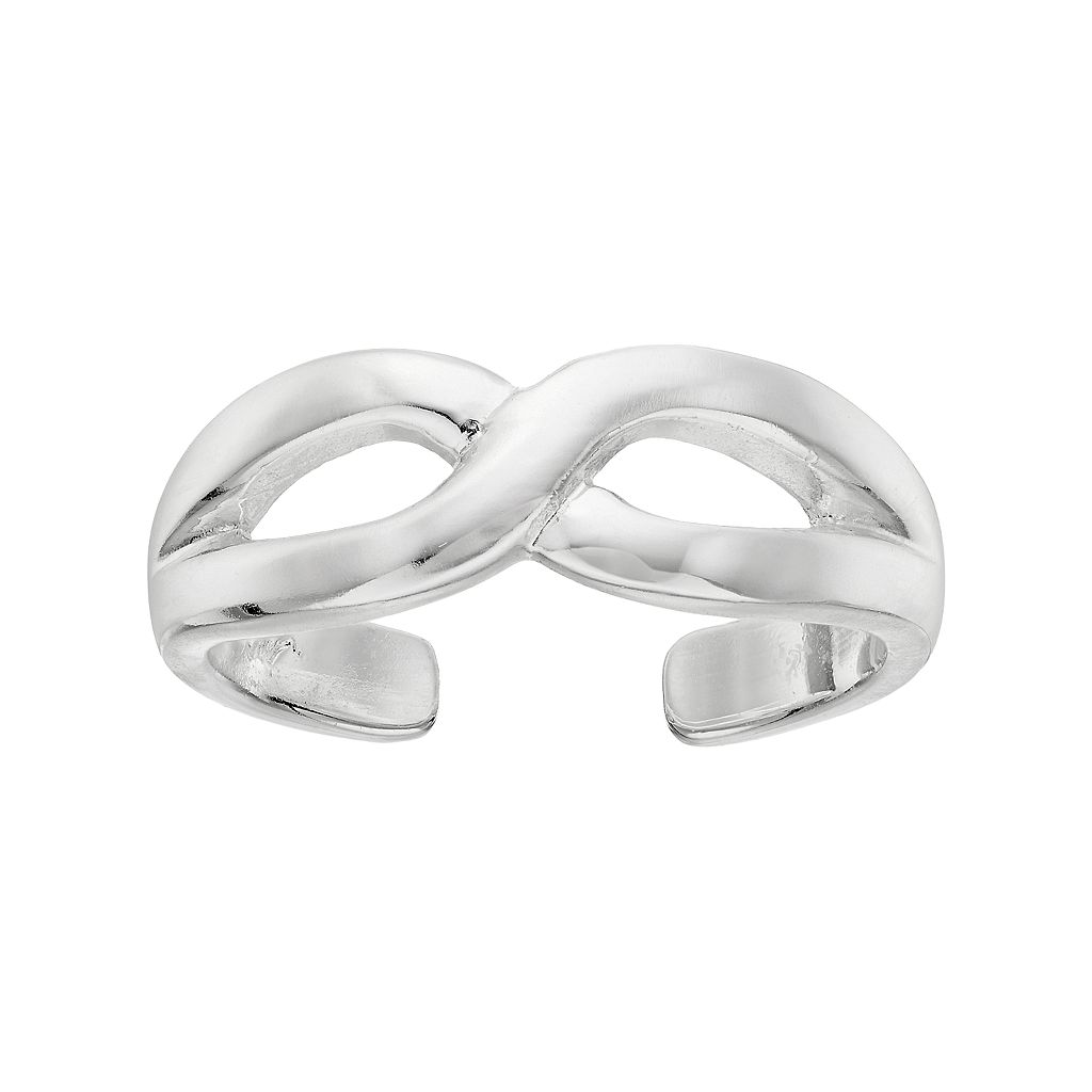 Barefootsies Silver Plated Infinity Toe Ring