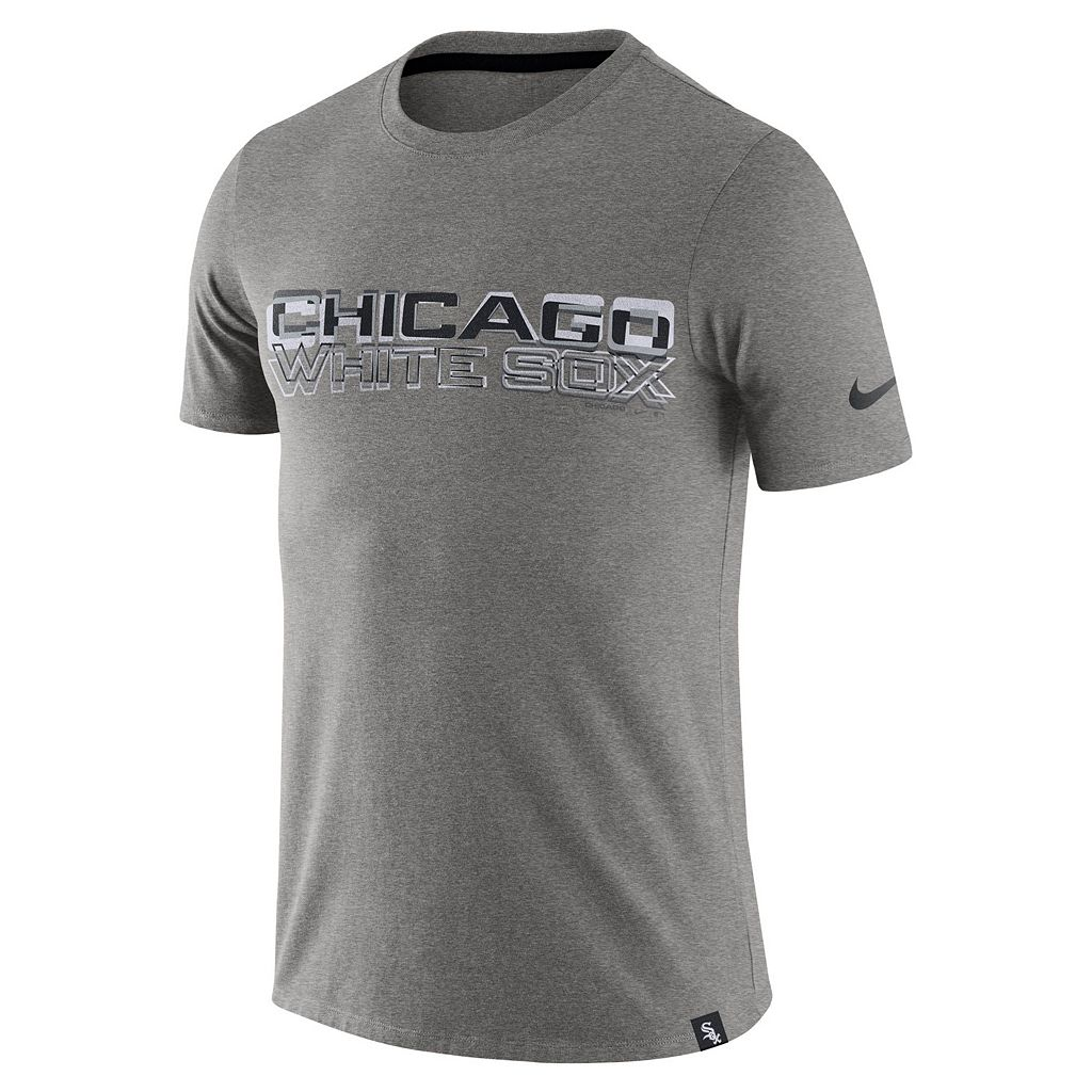 Men's Nike Chicago White Sox Marled Wordmark Tee