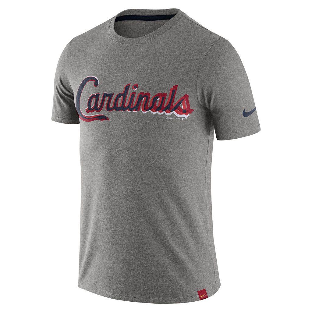 Men's Nike St. Louis Cardinals Marled Wordmark Tee