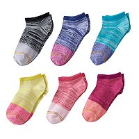 Girls 7-16 GOLDTOE 6-pk. Mixed-Media No-Show Socks