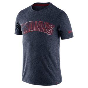 Men's Nike Cleveland Indians Marled Wordmark Tee