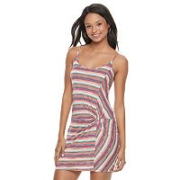 Juniors' Love, Fire Knot-Front Tank Dress