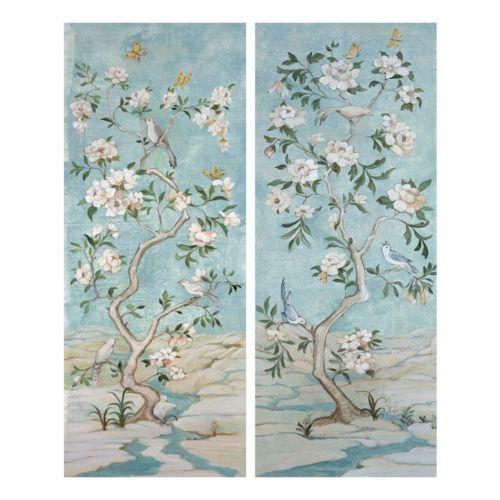 Crystal Garden I & II Canvas Wall Art 2-piece Set