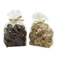 Coastal Living Wrapped Ball Vase Filler 2-piece Set
